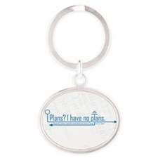 plans Oval Keychain