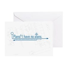 plans Greeting Card