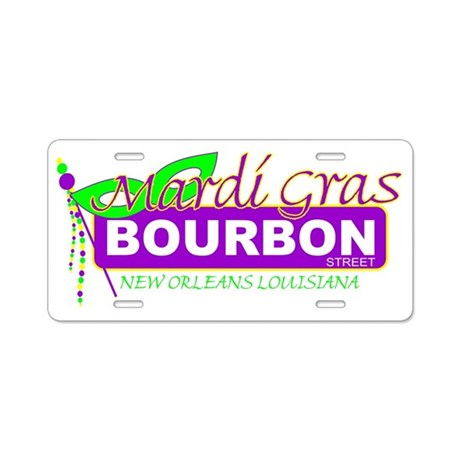 BOURBON STCAFE PRESS Aluminum License Plate