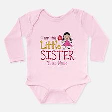 Little Sister Stick Figure Girl Long Sleeve Infant