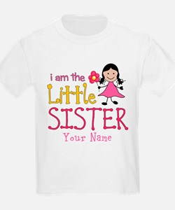 Little Sister Stick Figure Girl T-Shirt