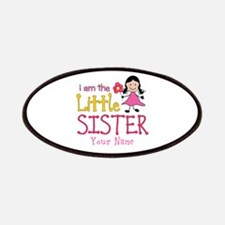 Little Sister Stick Figure Girl Patches