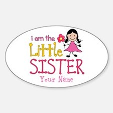 Little Sister Stick Figure Girl Decal