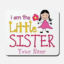 Little Sister Stick Figure Girl Mousepad