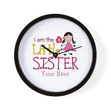 Little Sister Stick Figure Girl Wall Clock