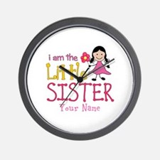 Little Sister Stick Figure Girl Wall Clock