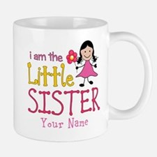 Little Sister Stick Figure Girl Mug