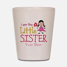 Little Sister Stick Figure Girl Shot Glass