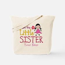 Little Sister Stick Figure Girl Tote Bag
