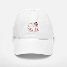 Little Sister Stick Figure Girl Baseball Baseball Cap
