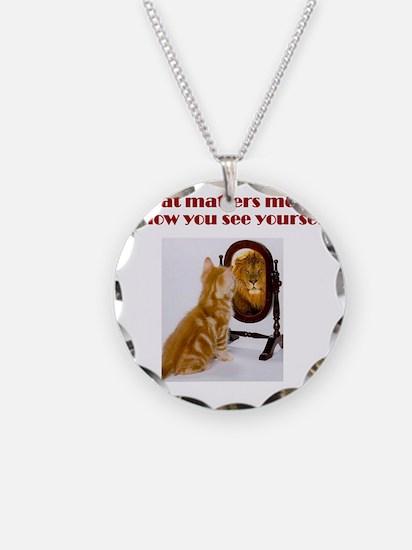 cat-lion Necklace Circle Charm