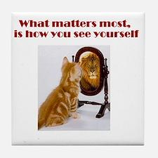 cat-lion Tile Coaster