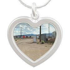 Rachel Back Gate Silver Heart Necklace