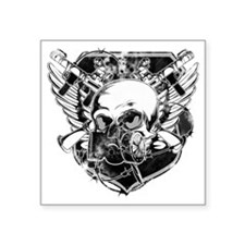 "masked-skull Square Sticker 3"" x 3"""