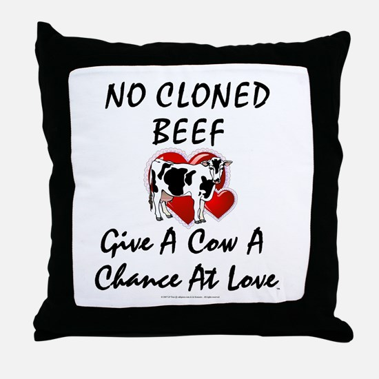 Cow Chance Throw Pillow
