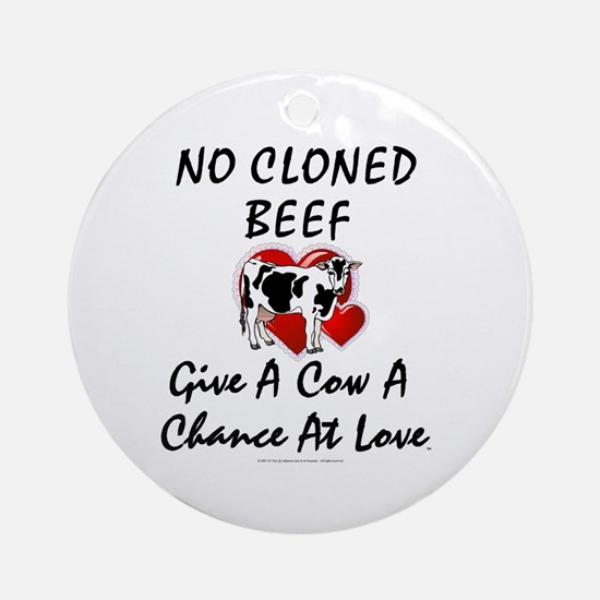 Cow Chance Ornament (Round)