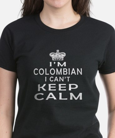 I Am Colombian I Can Not Keep Calm Women's Dark T-
