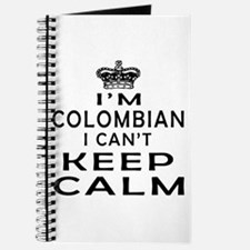 I Am Colombian I Can Not Keep Calm Journal