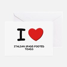 I love italian spade-footed toads Greeting Cards (