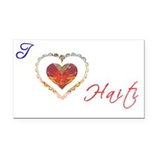 I Love Haiti (White) Rectangle Car Magnet