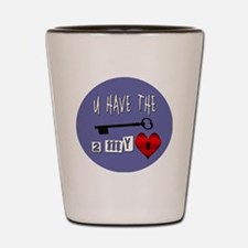 You Have the Key to my Heart Shot Glass