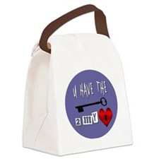 You Have the Key to my Heart Canvas Lunch Bag
