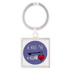 You Have the Key to my Heart Square Keychain