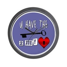 You Have the Key to my Heart Wall Clock