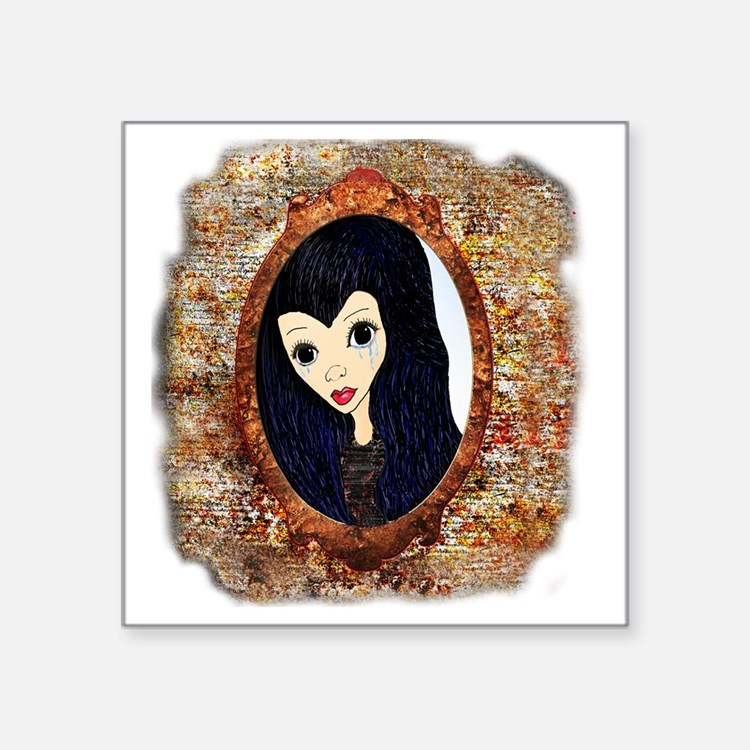 """Siouxsie Trapped in a Mirro Square Sticker 3"""" x 3"""""""