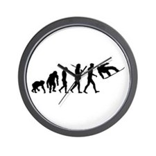 Evolution Snowboard Wall Clock