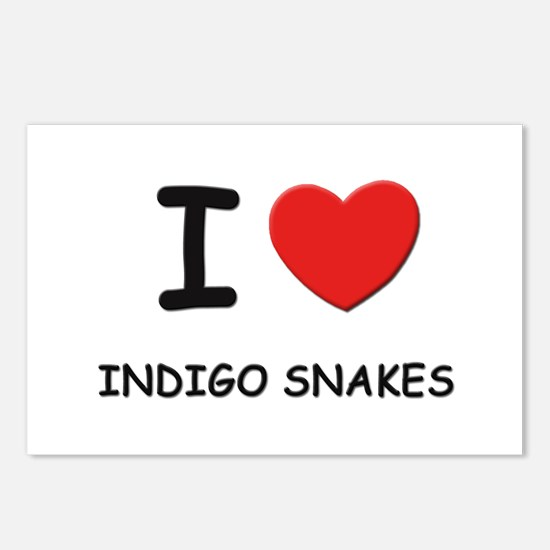 I love indigo snakes Postcards (Package of 8)