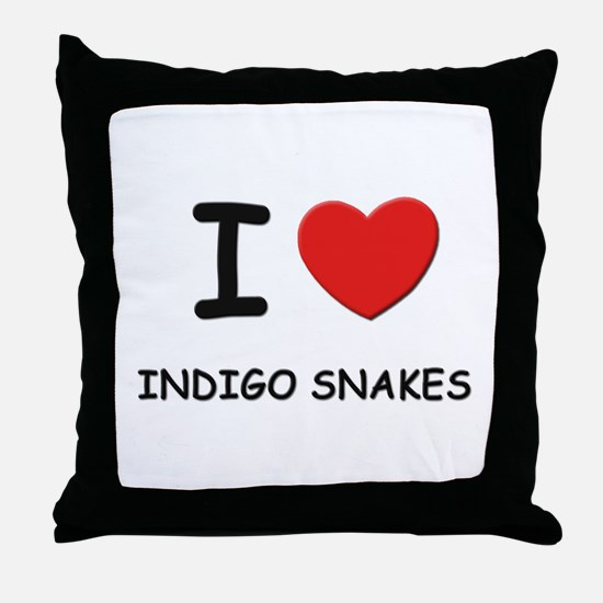 I love indigo snakes Throw Pillow