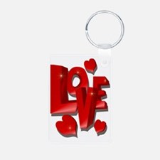 Big LOVE shadowedTrans Keychains