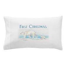 First Christmas Polar Bears Pillow Case