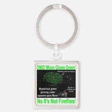 mysterious_green_glow_transparent Square Keychain