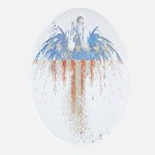 PATRIOTIC EAGLE 73 SLIDER TRANS TRAN Oval Ornament