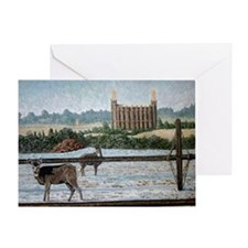 Logan temple oil painting 14x10 Greeting Card