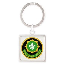 SS I - 2nd Armored Cavalry Regimen Square Keychain