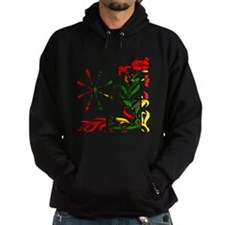 Red Yellow Green Tapestry Flowers Hoodie