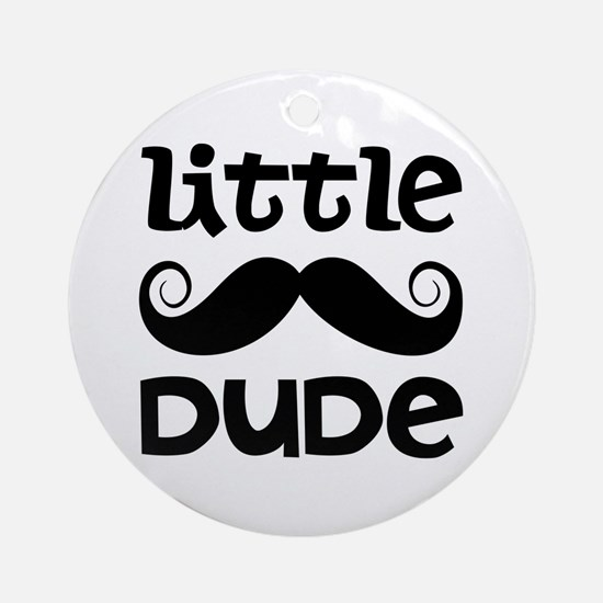Mustache Little Dude Ornament (Round)