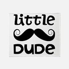 Mustache Little Dude Throw Blanket