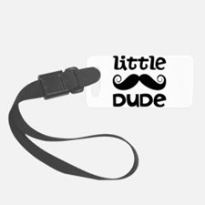 Mustache Little Dude Luggage Tag