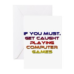 Copmuter Games Greeting Cards (Pk of 10)