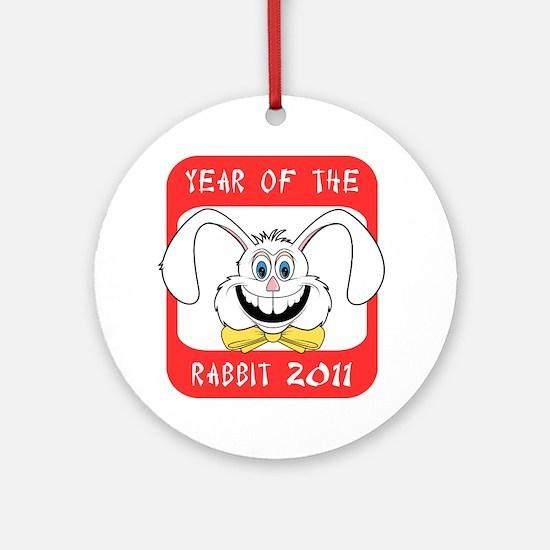 rabbit642011light Round Ornament