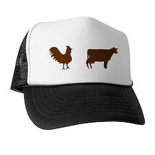2-brownchickenbrowncow Trucker Hat