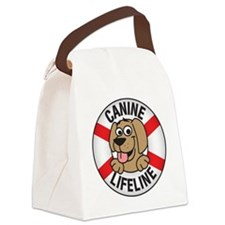 3-logo_3x3_buttons Canvas Lunch Bag