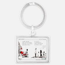 Santa Landscape Keychain