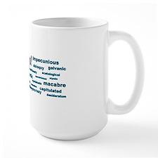 words words words blue bumper Mug