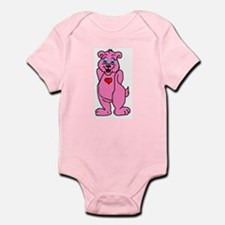 Pink Bear Infant Creeper Body Suit