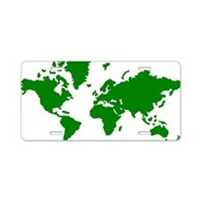 world_map Aluminum License Plate